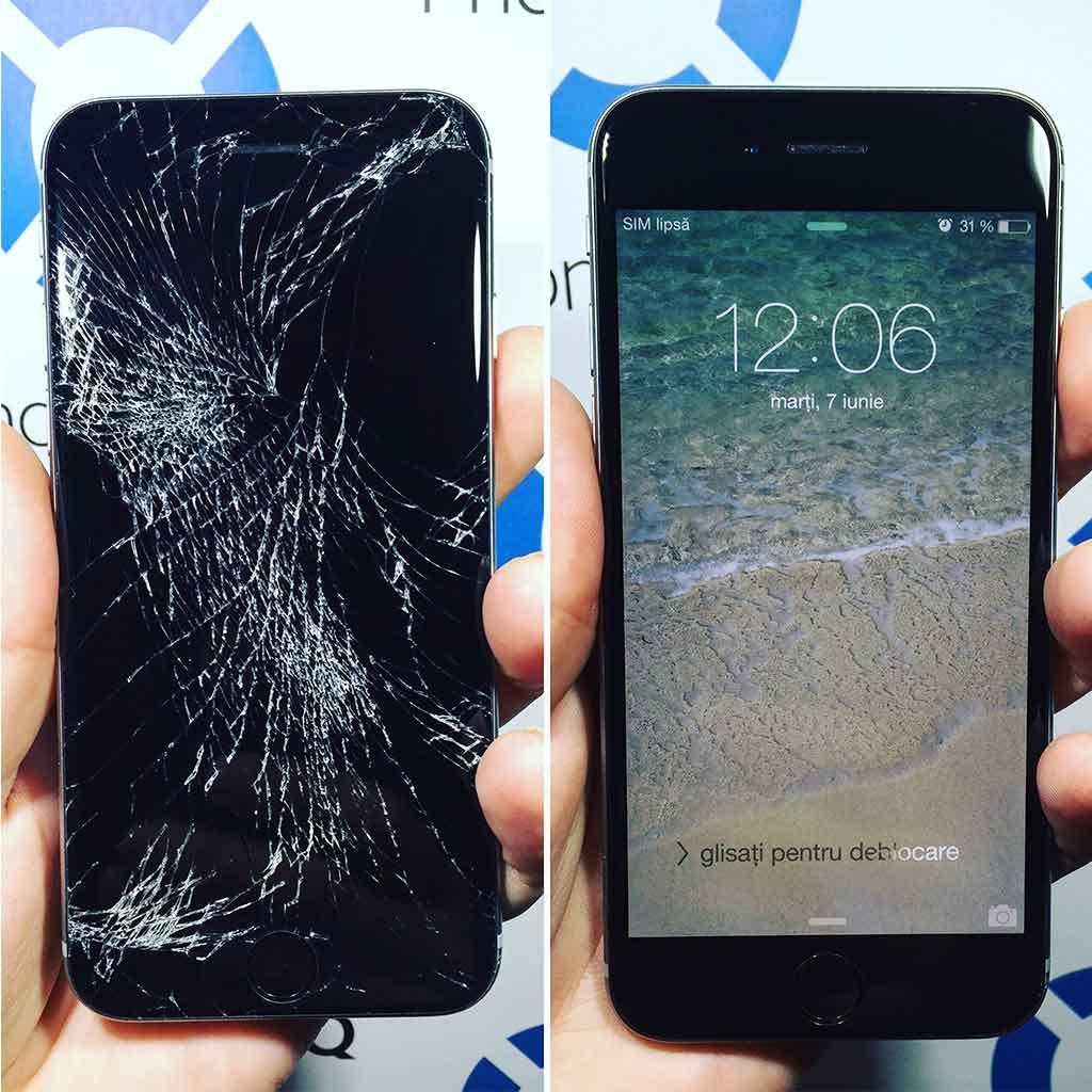 inlocuire sticla iphone 6s